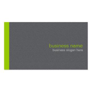 Raya verde simple moderna elegante llana tarjetas de visita