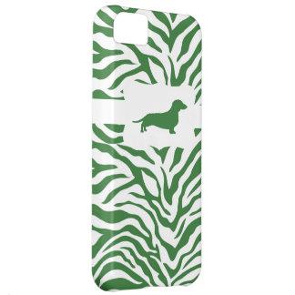 Raya verde w/Dachshund de la cebra