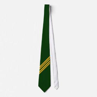 Raya verde y amarilla - lazo corbata personalizada