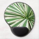 Raya verde y blanca de la planta del agavo alfombrilla gel