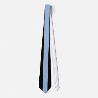 Raya vertical azul de Carolina en negro Corbata Personalizada
