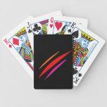 Raya vertical del color baraja de cartas