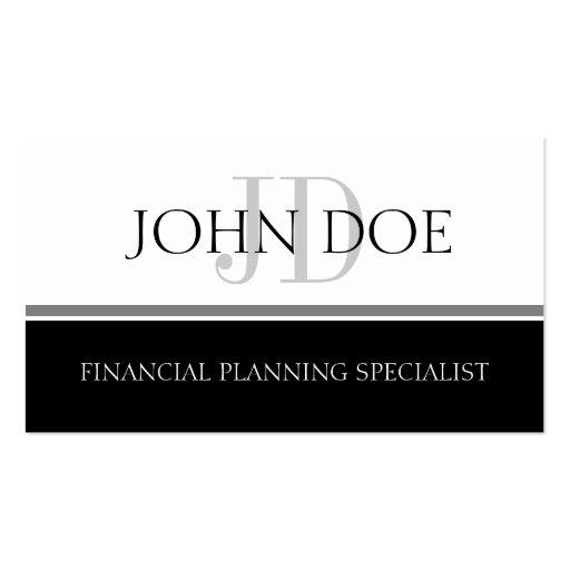 Raya W/W del planificador financiero S Tarjetas De Visita
