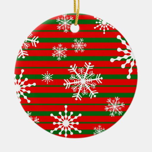 Raya y copo de nieve de Navidad Adorno Navideño Redondo De Cerámica