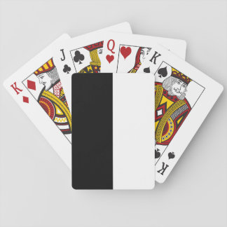 Rayado blanco y negro barajas de cartas