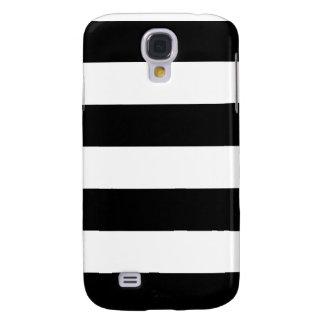 Rayado blanco y negro - caja de la galaxia S4 de S Funda Para Galaxy S4