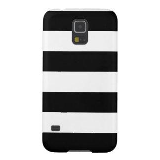 Rayado blanco y negro - caja de la galaxia S5 de S Carcasa Para Galaxy S5