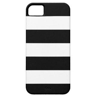 Rayado blanco y negro - caso del iPhone 5 iPhone 5 Carcasas
