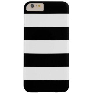 Rayado blanco y negro - caso más del iPhone 6 Funda Para iPhone 6 Plus Barely There