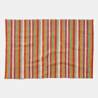Rayado enrrollado del inconformista retro toalla de cocina