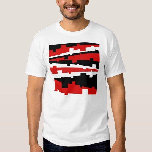 Rayado geométrico rojo playera