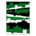 Rayado geométrico verde tarjeta de felicitación