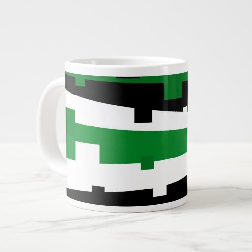 Rayado geométrico verde taza jumbo