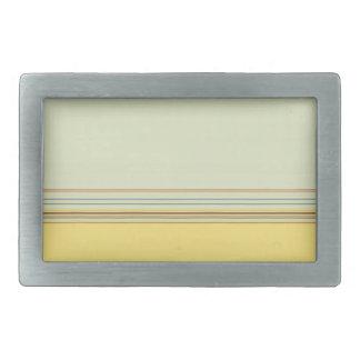 Rayado horizontal simple - amarillo y verde hebilla de cinturón rectangular