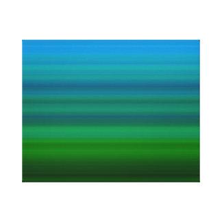 Rayado mezcle adentro el azul y el verde lona estirada galerías
