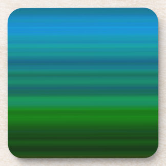 Rayado mezcle adentro el azul y el verde posavasos de bebida