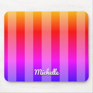 Rayado multicolor personalizado tapete de ratón