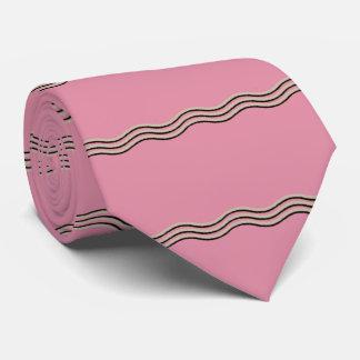 Rayado ondulado corbata personalizada