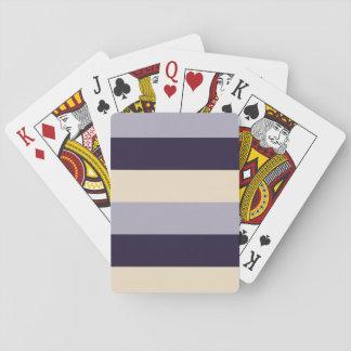 Rayado púrpura, de color de malva, poner crema barajas de cartas