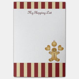 Rayado rojo de las galletas del día de fiesta del nota post-it