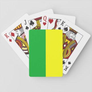 Rayado verde y amarillo barajas de cartas