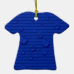 rayados azules mojaron adornos