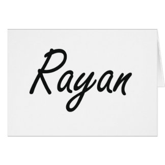 Rayan Artistic Name Design Stationery Note Card