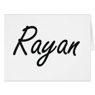 Rayan Artistic Name Design Large Greeting Card