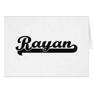Rayan Classic Retro Name Design Stationery Note Card