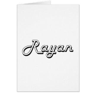 Rayan Classic Retro Name Design Greeting Card