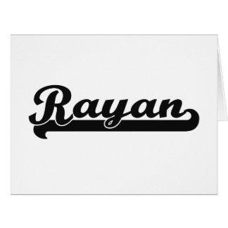 Rayan Classic Retro Name Design Large Greeting Card