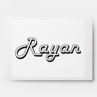 Rayan Classic Retro Name Design Envelope