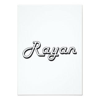Rayan Classic Retro Name Design 5x7 Paper Invitation Card