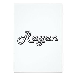 Rayan Classic Retro Name Design 3.5x5 Paper Invitation Card