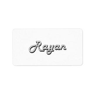 Rayan Classic Retro Name Design Address Label