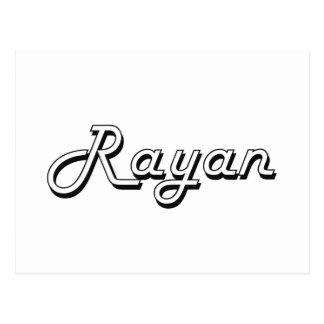 Rayan Classic Retro Name Design Postcard