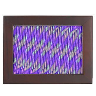 Rayar las ilustraciones abstractas púrpuras brilla caja de recuerdos