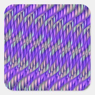Rayar las ilustraciones abstractas púrpuras pegatina cuadrada