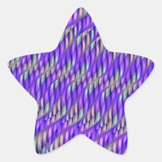 Rayar las ilustraciones abstractas púrpuras pegatina en forma de estrella