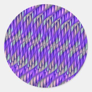 Rayar las ilustraciones abstractas púrpuras pegatina redonda