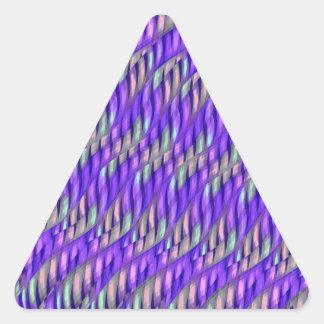 Rayar las ilustraciones abstractas púrpuras pegatina triangular