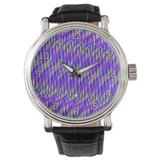 Rayar las ilustraciones abstractas púrpuras relojes