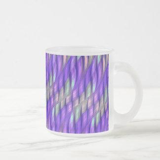 Rayar las ilustraciones abstractas púrpuras taza cristal mate