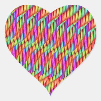 Rayar las ilustraciones brillantes del extracto pegatina en forma de corazón