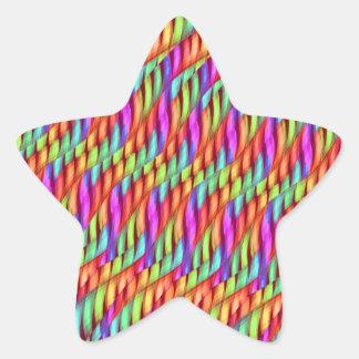 Rayar las ilustraciones brillantes del extracto pegatina en forma de estrella