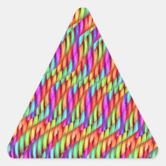 Rayar las ilustraciones brillantes del extracto pegatina triangular