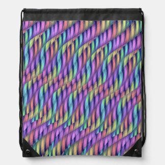 Rayar las ilustraciones en colores pastel del mochilas