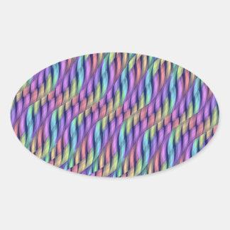 Rayar las ilustraciones en colores pastel del calcomanía de óval