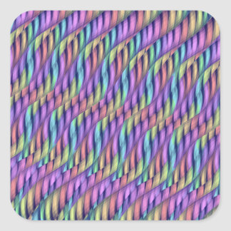 Rayar las ilustraciones en colores pastel del calcomanía cuadrada