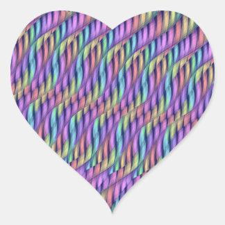 Rayar las ilustraciones en colores pastel del pegatina en forma de corazón